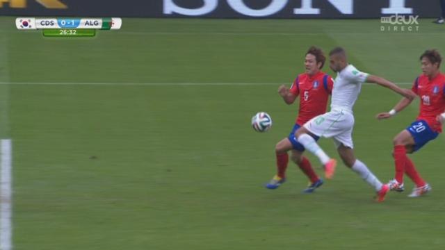 Groupe H, KOR-ALG (0-1): l'Algérie ouvre logiquement le score sur cette percée de Slimani [RTS]