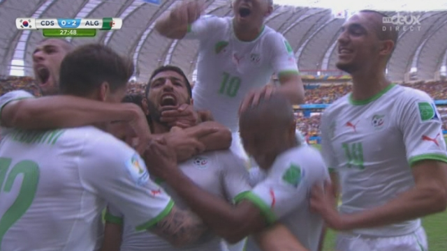 Groupe H, KOR-ALG (0-2): la reprise de la tête de Rafik Halliche permet aux Algériens de doubler la marque [RTS]