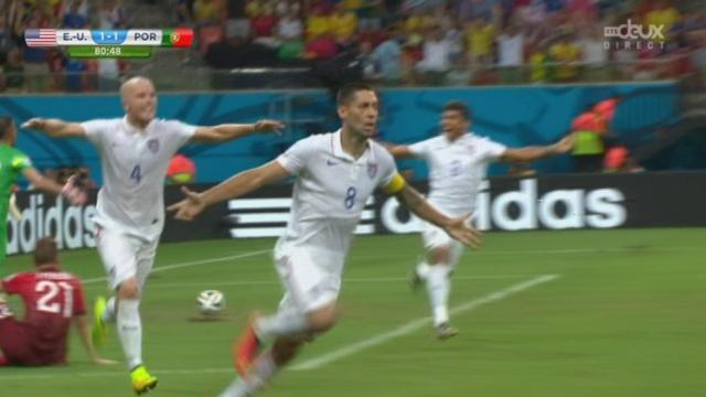 Groupe G, USA-POR (2-1): Clint Dempsey permet aux Etats-Unis de passer devant à quelques instants de la fin du match [RTS]