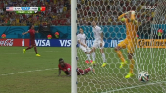 Groupe G, USA-POR (2-2): quelle fin de match ! Silvestre Varela égalise à l'ultime seconde sur un superbe centre de Ronaldo [RTS]