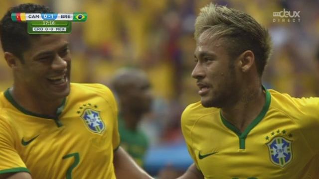 Groupe A, CMR-BRA (0-1): Neymar inscrit le premier but [RTS]