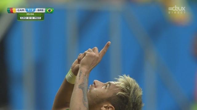 Groupe A, CMR-BRA (1-2): Neymar signe le doublé [RTS]