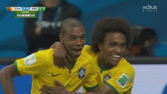 Groupe A, CMR-BRA (1-4): Fernandinho creuse l'écart [RTS]
