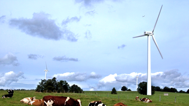 Les éoliennes du Mont Crosin. [Keystone]