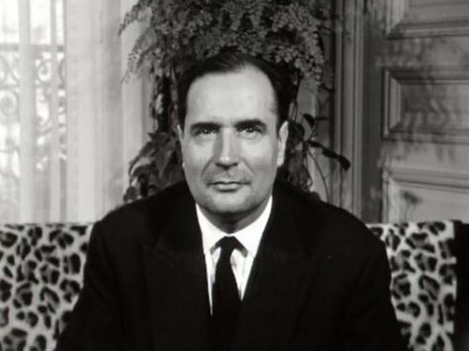François Mitterrand face au Général de Gaulle en 1965. [RTS]