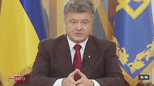Ukraine: l'atmosphère se détend après quatre mois de tensions et d'affrontements [RTS]