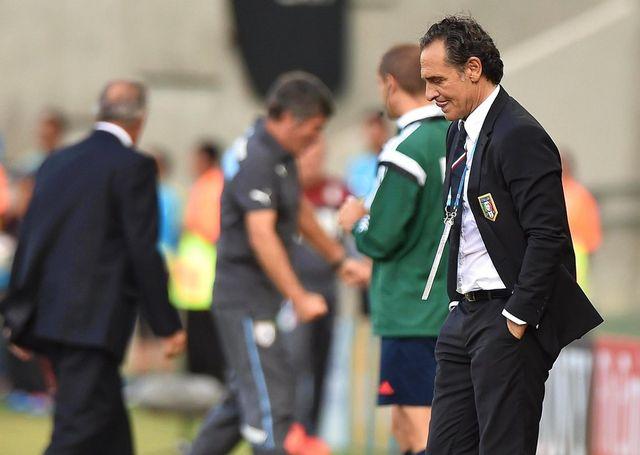 "Prandelli assume ce nouvel échec des ""Azzurri"". [Ettore Ferrari - Keystone]"