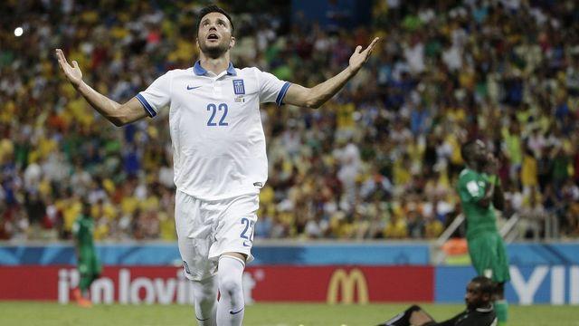 Andreas Samaris avait ouvert le score pour les Grecs. [Christophe Ena - Keystone]