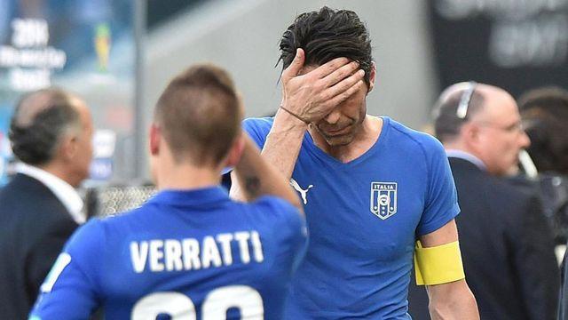 Déception et polémique après la défaite des Italiens. [Ettore Ferrari - EPA/Keystone]