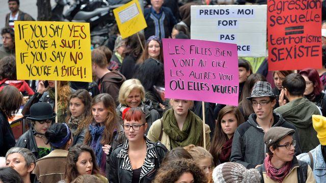 Le défilé est parti de la rue du Mont-Blanc. [Martial Trezzini - Keystone]