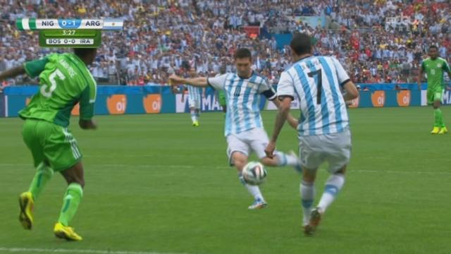 Groupe F, NGR-ARG (0-1): après 2 minutes de match, Messi glisse le ballon au fond de la cage nigérienne [RTS]