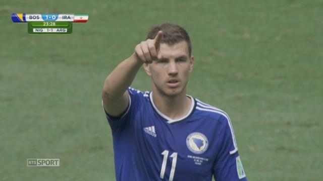 Groupe F, BIH - IRN (1-0): la Bosnie ouvre le score sur une frappe de Dzeko [RTS]