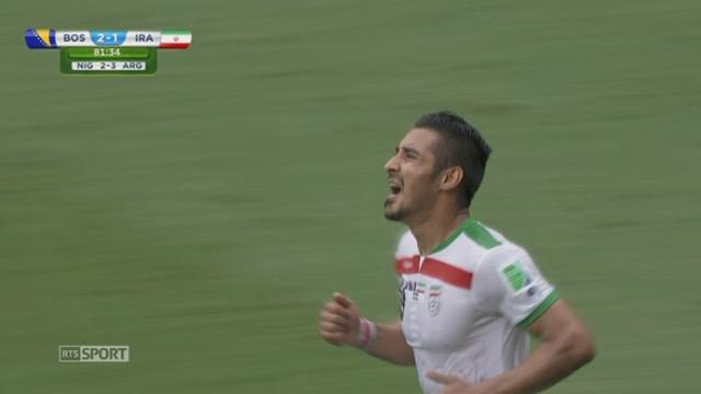 Groupe F, BIH - IRN (2-1): Ghoochannejhad marque le premier but iranien dans cette coupe du monde [RTS]