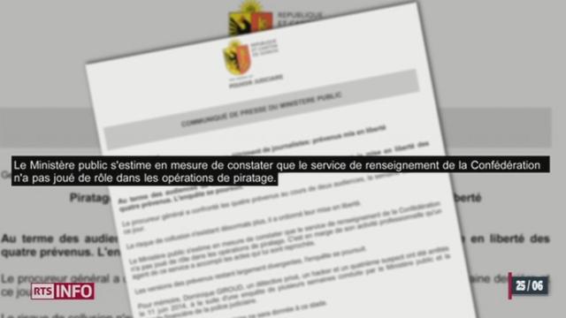 GE: le Ministère public a annoncé la remise en liberté de Dominique Giroud et de ses 3 complices [RTS]