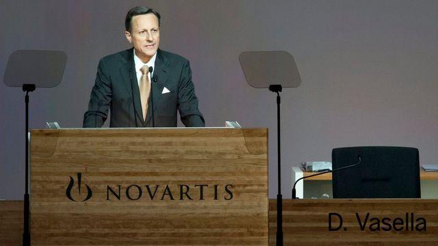 Daniel Vasella toucherait 75 millions de francs à son départ de Novartis. [Georgios Kefalas - Keystone]