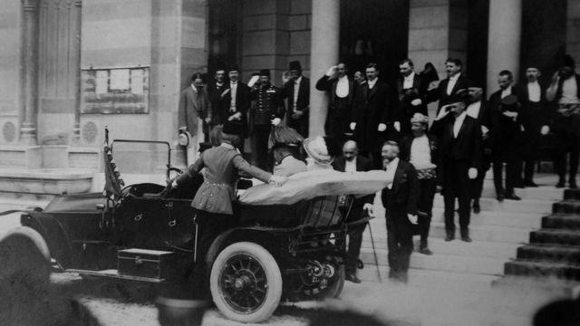 François Ferdinand d'Autriche à Sarajevo le 14 juin 1914. [AP Photo/Historical Archives Sarajevo - Keystone]