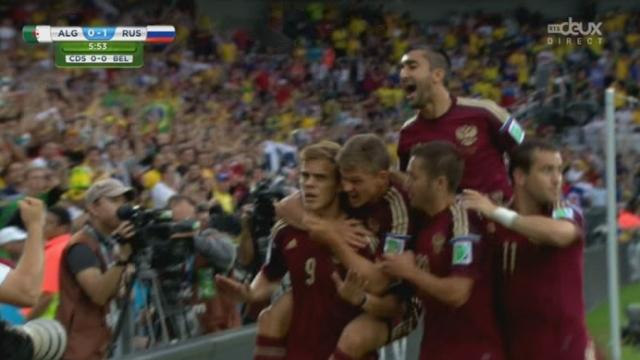 Groupe H, ALG-RUS (0-1): ouverture du score pour la Russie sur une reprise de Kokorin [RTS]
