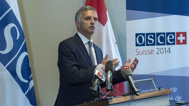 Didier Burkhalter, président en exercice de l'OSCE. [Lukas Lehmann - Keystone]