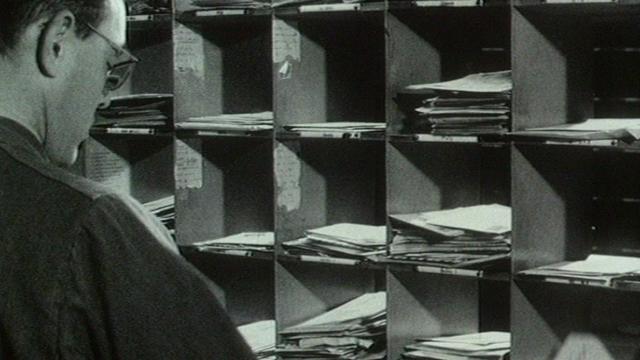 Le tri postal en 1968. [RTS]