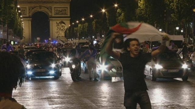 Les fans de l'Algerie ont fete leur victoire en France [RTS]