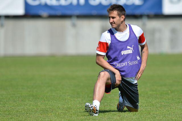 Pas de chance pour Mario Gavranovic, victime d'une grosse blessure au genou droit. [Melanie Duchene - EQ]