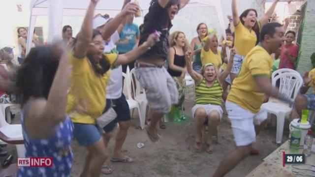 Football - Coupe du Monde: le Brésil s'est qualifié pour les quarts de finale [RTS]