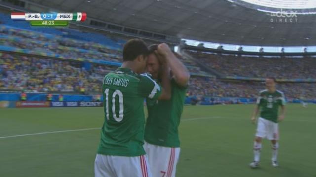 1-8, NED-MEX (0-1): ouverture du score pour le Mexique sur une belle reprise de Dos Santos [RTS]