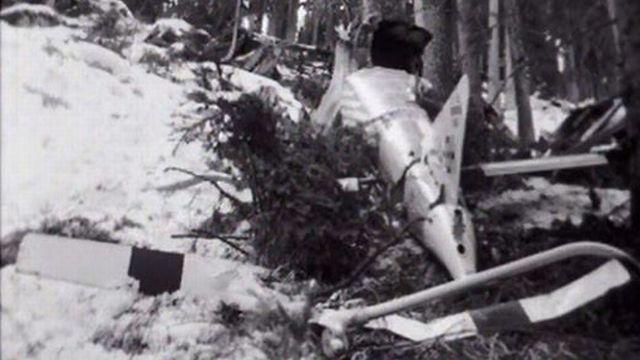 Récit de l'accident d'hélicoptère de Fernand Martignoni. [RTS]