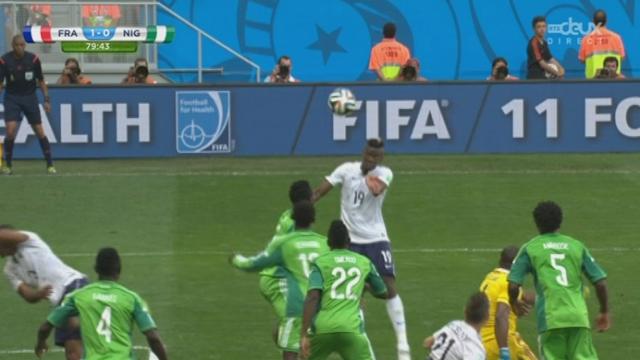 1-8, FRA-NGR (1-0): la France prend l'avantage grâce à ce but de Pogba [RTS]