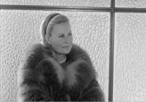 Sublime Michèle Morgan en vacances à Crans-Montana
