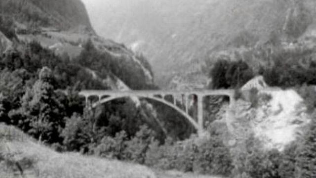 Le pont Stalden, un importante réalisation valaisanne. [RTS]