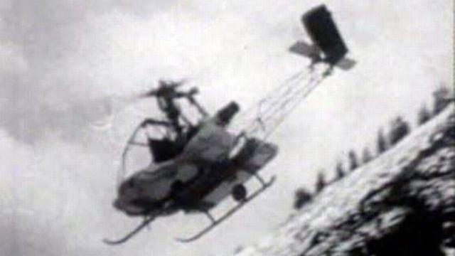 L'hélicoptère, un moyen de transport  pour les secours en montagne.
