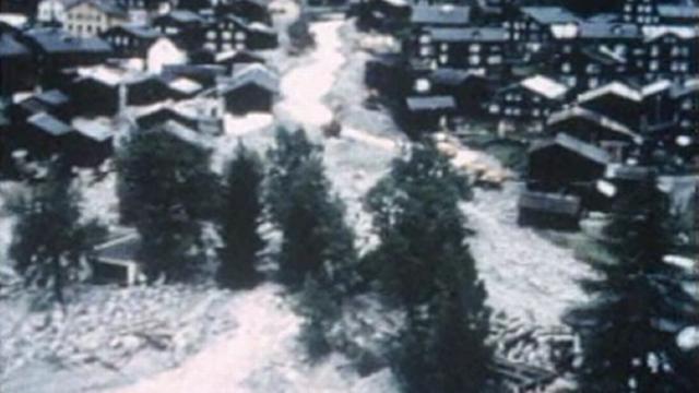 Intempéries en Suisse en 1988. [RTS]