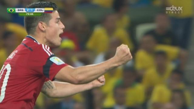 1-4, BRA-COL (2-1): la Colombie revient au score avec ce penalty transformé par James Rodriguez [RTS]