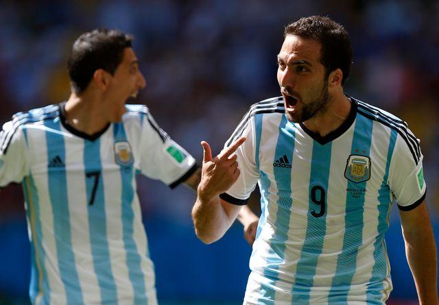 Gonzalo Higuain a choisi le bon moment pour inscrire son premier but du tournoi. [Ueslei Marcelino - Reuters]