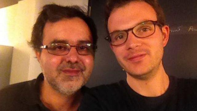 Défi#1: C'est réussi pour Marc, ici en photo avec un adepte du boycott: Juan Carlos Hernandez.