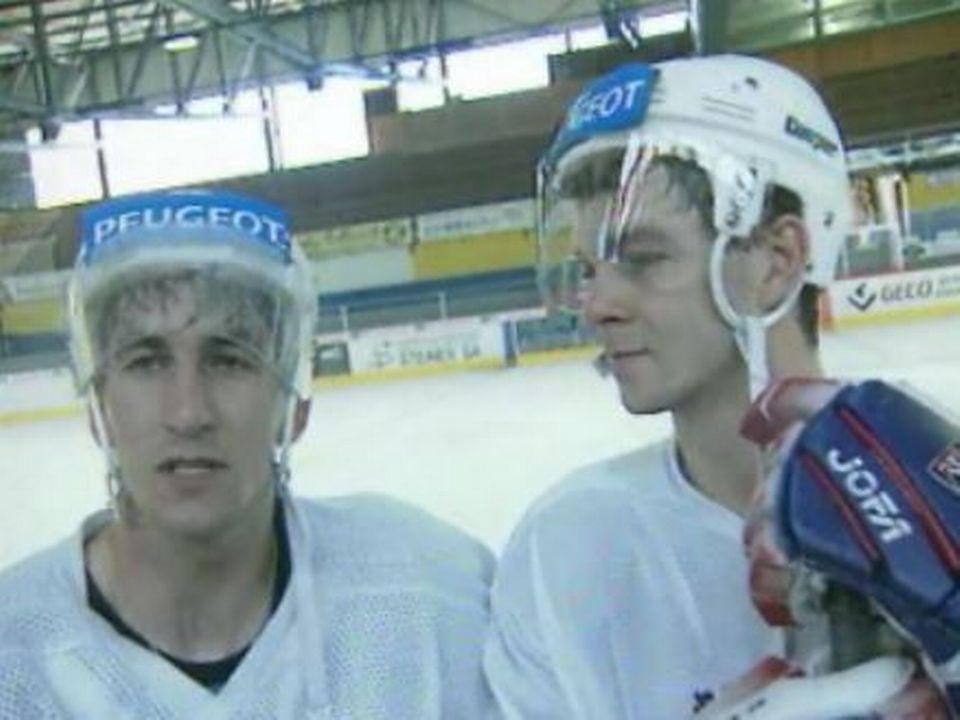 Patrick et Stéphane Lebeau, deux frères arrivés au HC La Chaux-de-Fonds en 1997. [RTS]
