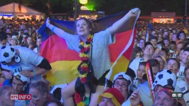 Coupe du monde: la demi-finale Allemagne-Brésil a fait rêver les supporters allemands [RTS]