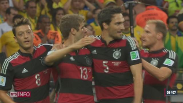 Coupe du monde: retour sur la victoire hallucinante de l'Allemagne contre le Brésil (7-1) [RTS]