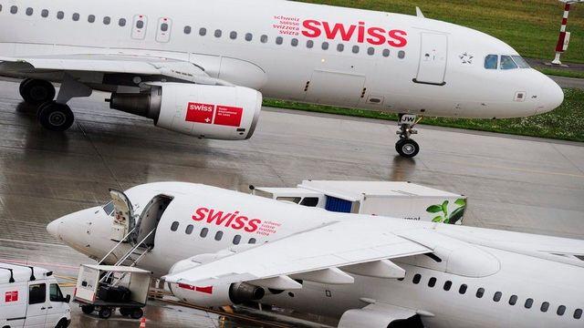 Swiss est contre le projet européen de taxe carbone pour les compagnies aériennes. [Steffen Schmidt - Keystone]