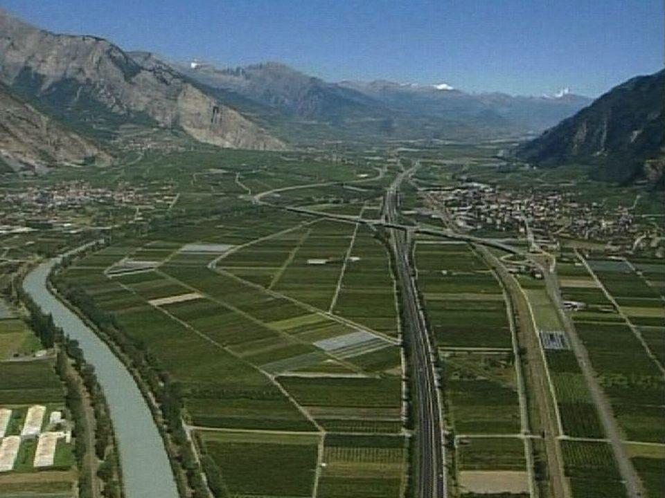La plaine du Rhône en janvier 2003 [RTS]