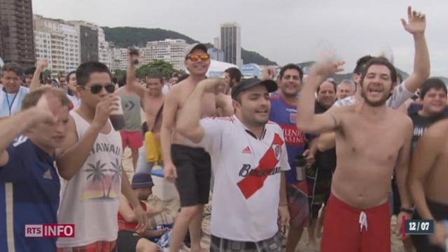 Coupe du Monde 2014: les supporters argentins déferlent sur Rio [RTS]
