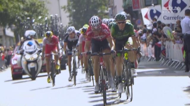 9e étape, Gérardmer - Mulhouse: Tony Martin (ALL) s'impose après 60 derniers kilomètres en solitaire. Tony Gallopin (FRA) s'empare du maillot jaune [RTS]