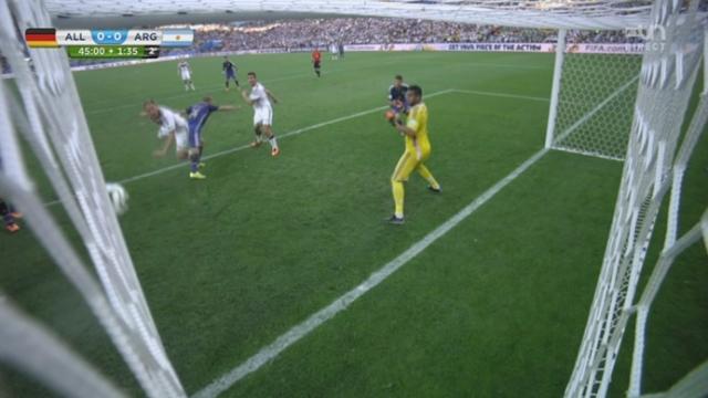 Finale, GER-ARG (0-0): les Allemands trouvent le poteau sur un corner repris de la tête par Benedikt Höwedes [RTS]