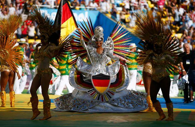 Superbe cérémonie de clôture à Rio de Janeiro. [Michael Dalder - Reuters]
