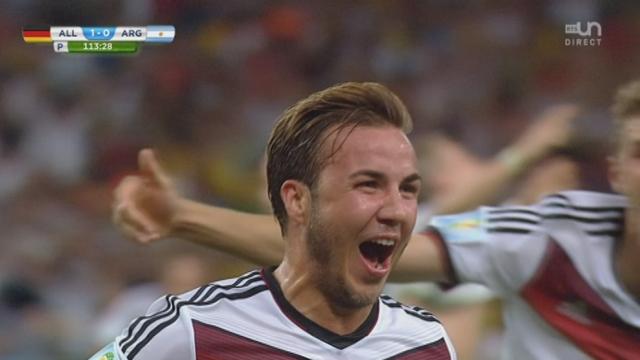 Finale, GER-ARG (1-0): Mario Götze ouvre magnifiquement le score pour l'Allemagne à la 113e minute [RTS]