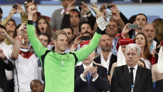 Manuel Neuer, meilleur gardien du tournoi. [AP Photo/Martin Meissner - Keystone]