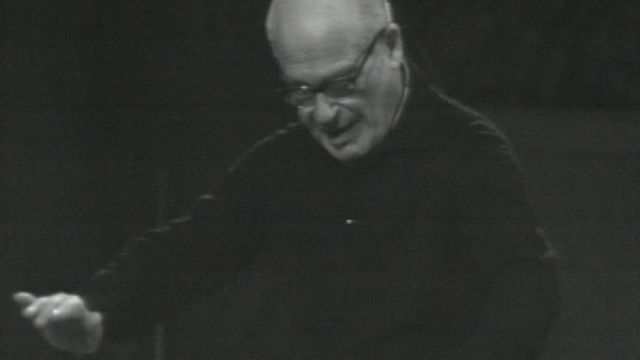Répétition de l'O.S.R. en 1968 avec Pawel Klecki [RTS]
