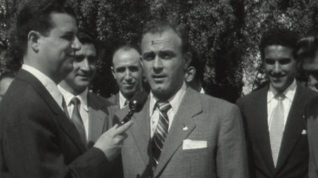 Alfredo Di Stefano à Genève en 1955 [RTS]