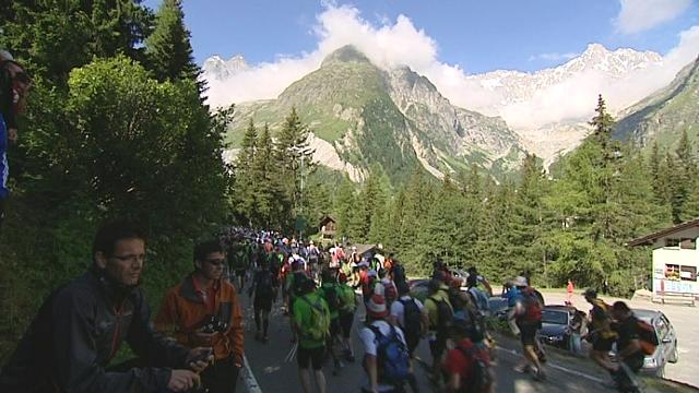 Le trail de Verbier en 2011. [RTS]